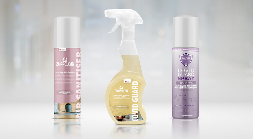 Surface and air sanitiser range launched
