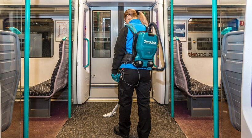 Makita Back-Pack Vacs fast-track Greater Anglia Trains
