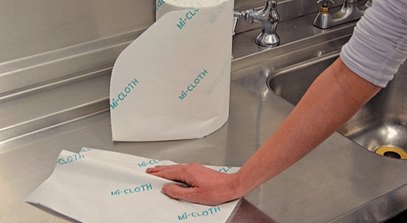 Mi-Cloth disposable microfibre cleaning for the healthcare sector