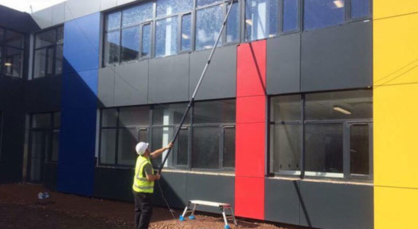 Welsh cleaning company nears final stage of school project