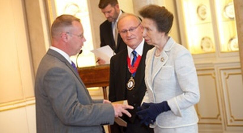 Outstanding achiever receives royal approval