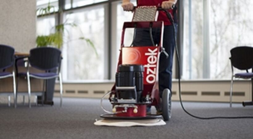 Carpet cleaning solution for healthcare environments
