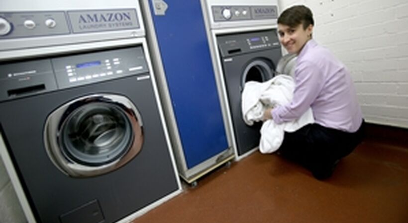 On-site laundry for 5-star hotel