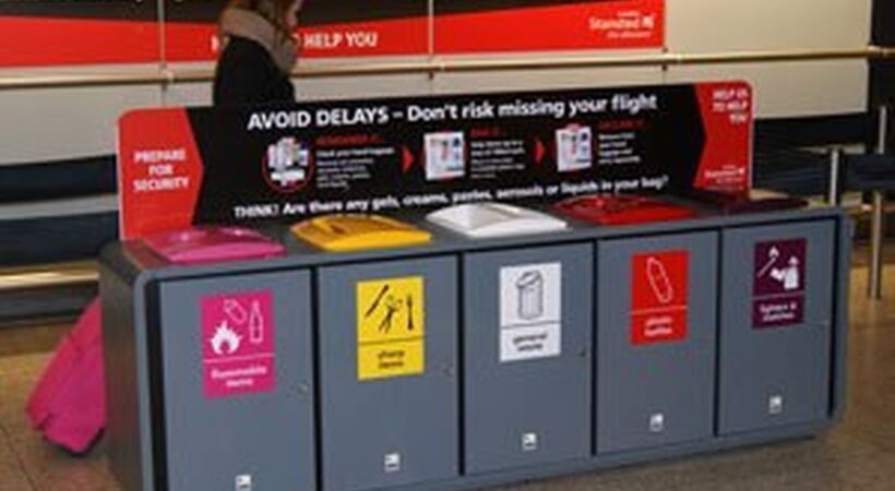 Envirobin assists airport cleanliness