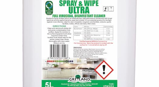 Spray & Wipe Ultra virucidal disinfectant cleaner launched